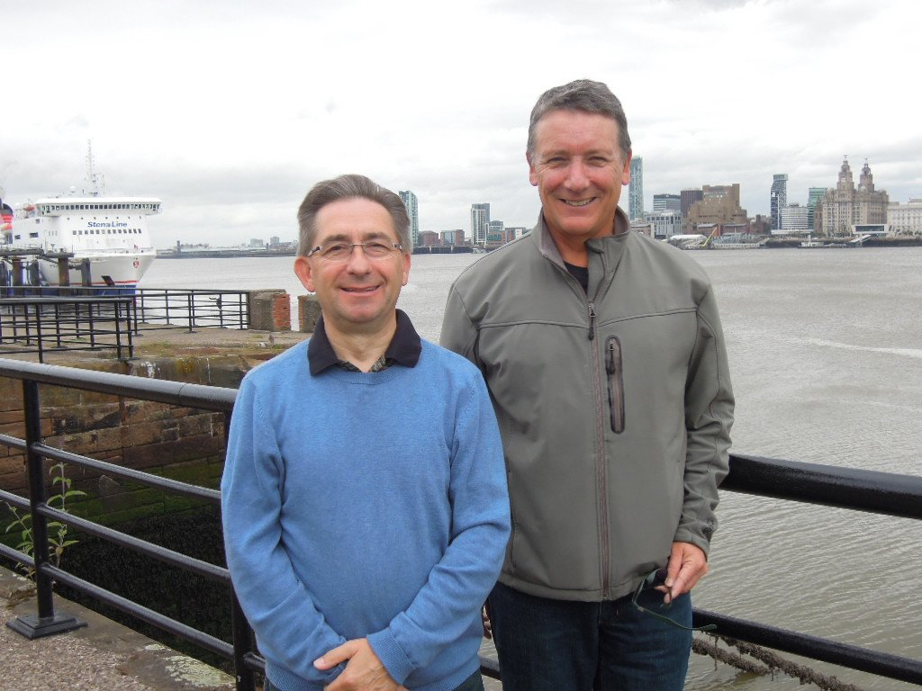 Tim Davies (Royal Haskoning DHV) & Grant Muller (Muller Partnership) at their recent inspection of the Liverpool Berthing Dock