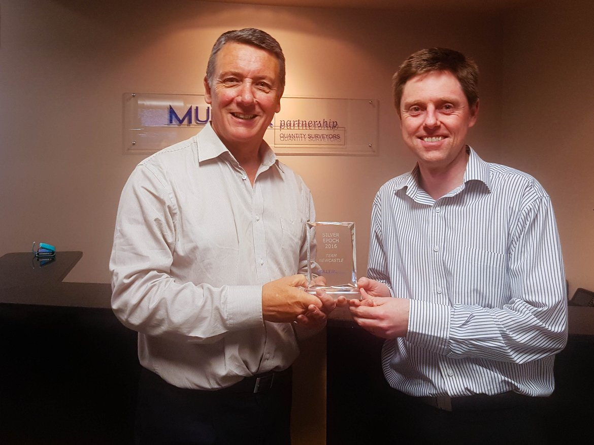 Muller Partnership's Newcastle and Melbourne offices were awarded Silver Epoch awards and bonuses for their team performance over the 2015/2016 financial year.