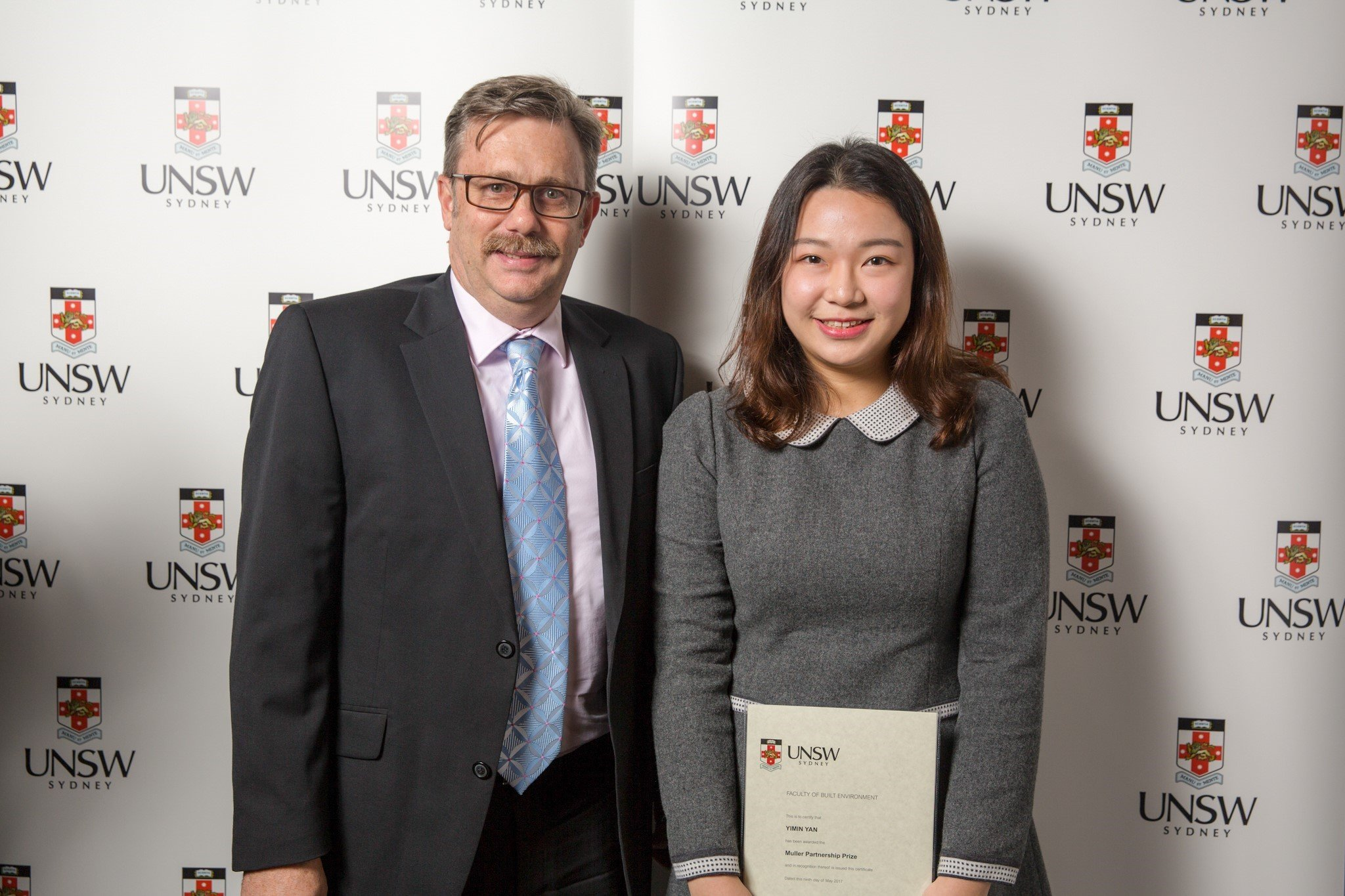 We would like to congratulate Yimman Yan on receiving the UNSW Muller Partnership prize for the 'Best QS Student' in 3rd year of the UNSW Construction Management and Property degree.