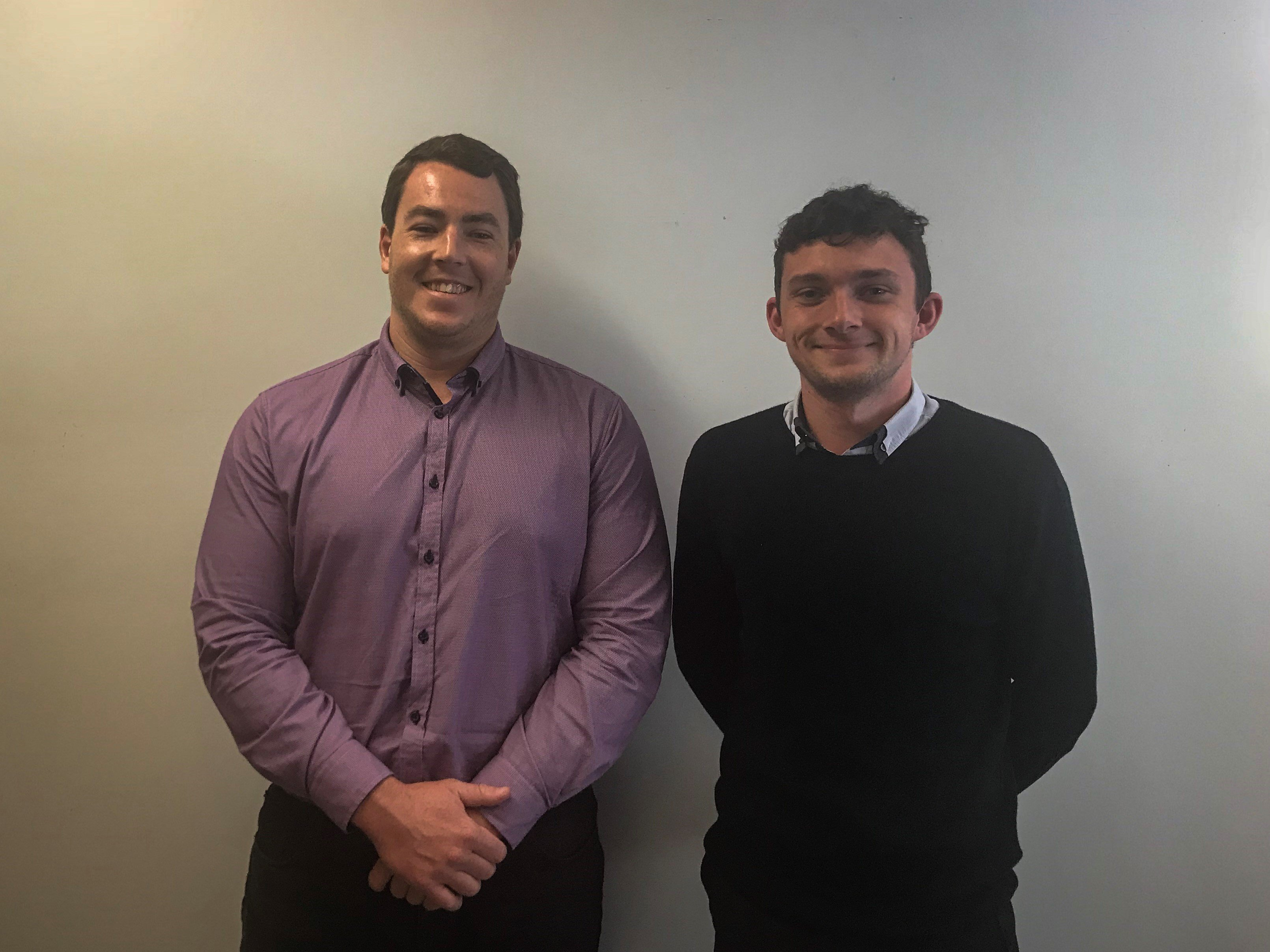 L to r 2018 graduates Lachlan Hanlon and Tom Hardy of Newcastle (photo); In Sydney our graduates are Ben Kingsland, Frank Weng and Sam Crosthwait
