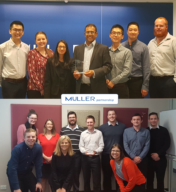 A Big year for Muller Partnership with the Melbourne and Newcastle Team each receiving a Silver Epoch Award for their excellent performance in the 2017/18 Financial Year.