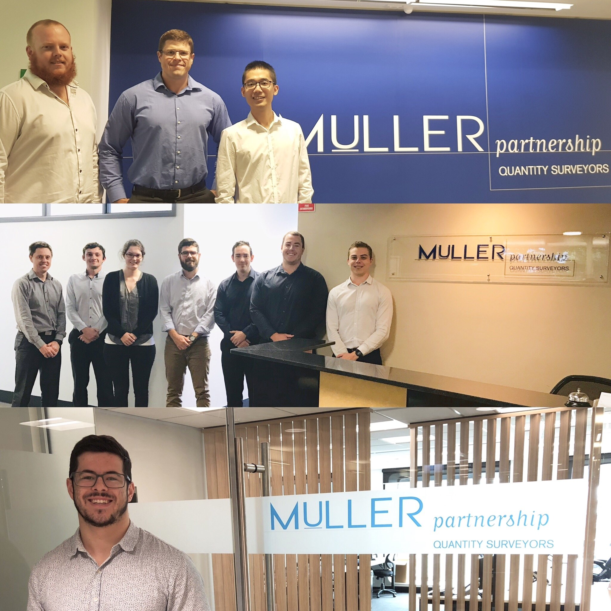 Since its humble beginnings in 1997, Muller Partnership has enjoyed a strong connection with the Construction Management program offered at the University of Newcastle. Under the stewardship of Muller Partnership's Chief Executive Grant Muller, this connection has flourished over 21 years. We currently enjoy an amazing 11 employees whom are either studying or have completed their degree and span across three offices located in Newcastle, Sydney and Melbourne.
