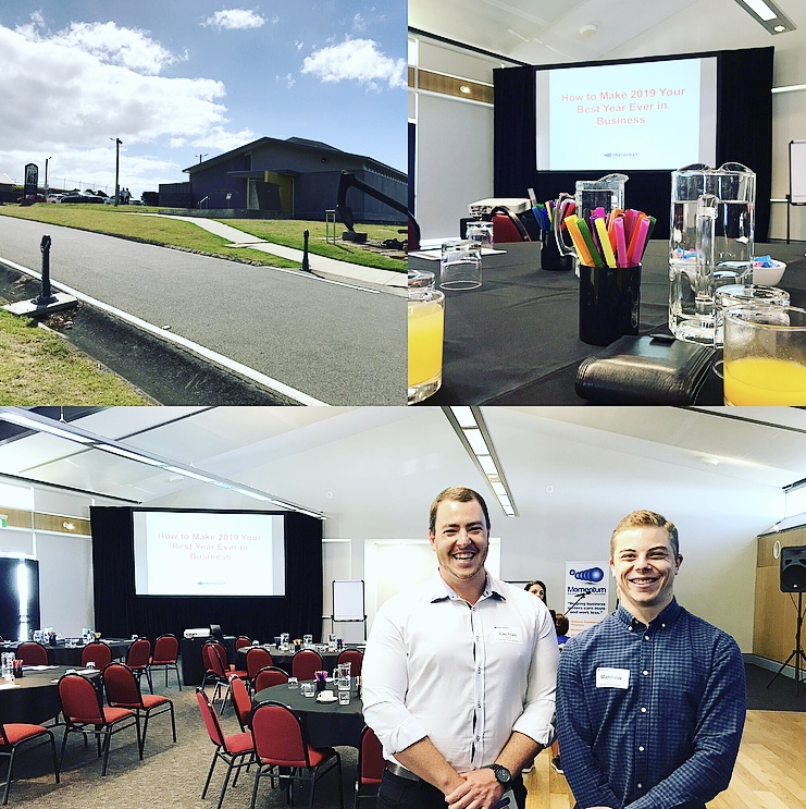 ''Goodbye 2018 and Hello 2019''. This morning Matt, Jacky and Lachlan attended the final ''First Friday Club'' event hosted by the ever enthusiastic Momentum Business Improvement Specialists. It is well worth a shot as it's not just a great networking event but also provides genuine skills and cuts out the fluff. The final monthly event focused on making 2019 our best year yet with all three walking away optimistic they can improve their abilities with our great clients and the Newcastle team.