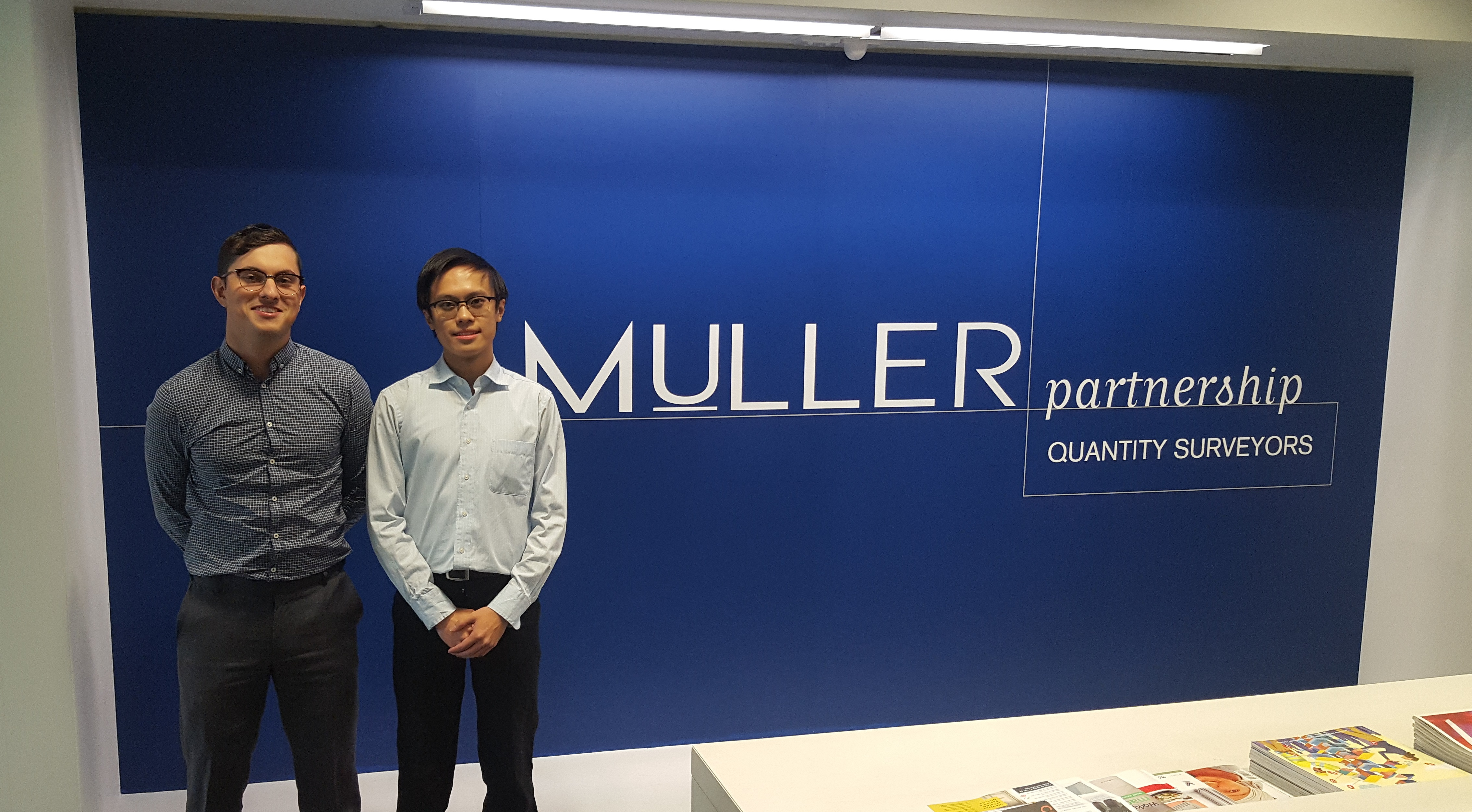 Muller Partnership are excited to welcome our newest cadets Emanuel and Isaac to our Melbourne office.  We look forward to providing them with a range of on the job training and opportunities in a fantastic team environment.